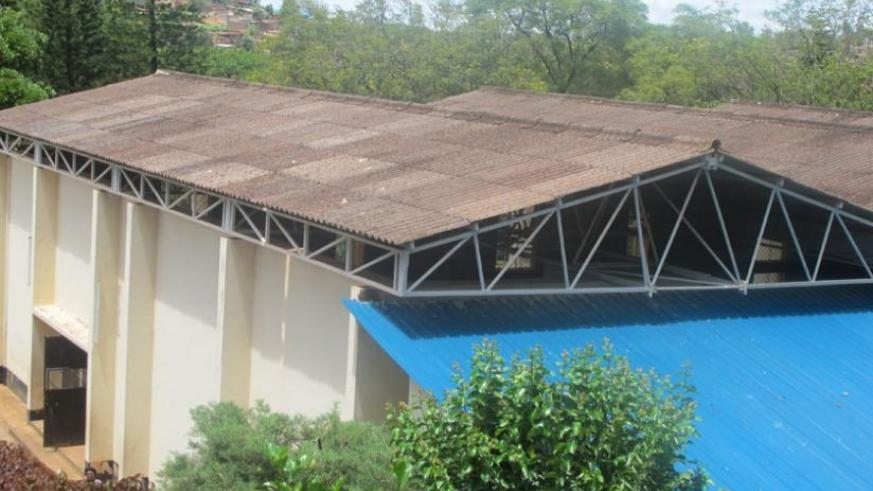 A gymnasium at Lycee de Kigali with asbestos roofing material. (File)