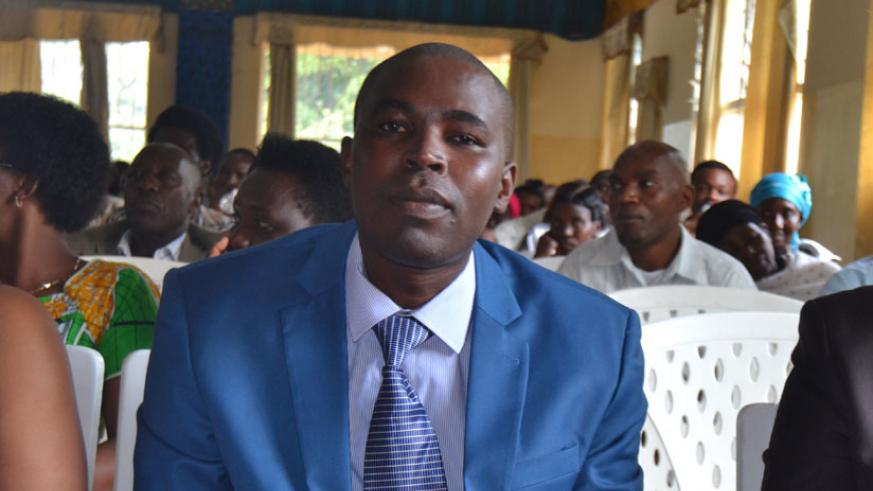 Jeremie Sinamenye was elected as new Rubavu District mayor on Friday. (Jean d'Amour Mbonyinshuti)