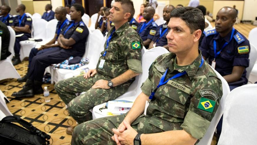 Some of the security personnel participants at the conference in Kigali. (Timothy Kisambira)