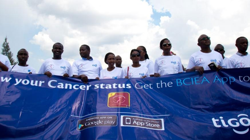 """A group of men and women during the peaceful """"Ulinzi Walk"""" last year that was dedicated to highlighting the importance of going for cancer checkup. (File)"""