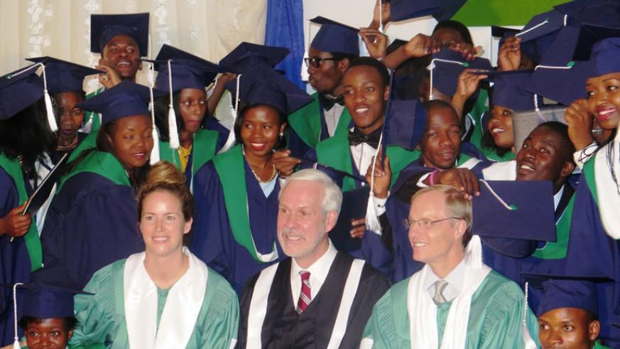 A total of 46 graduates received degrees in business studies at Kepler Kigali Campus in Kimironko on Saturday.