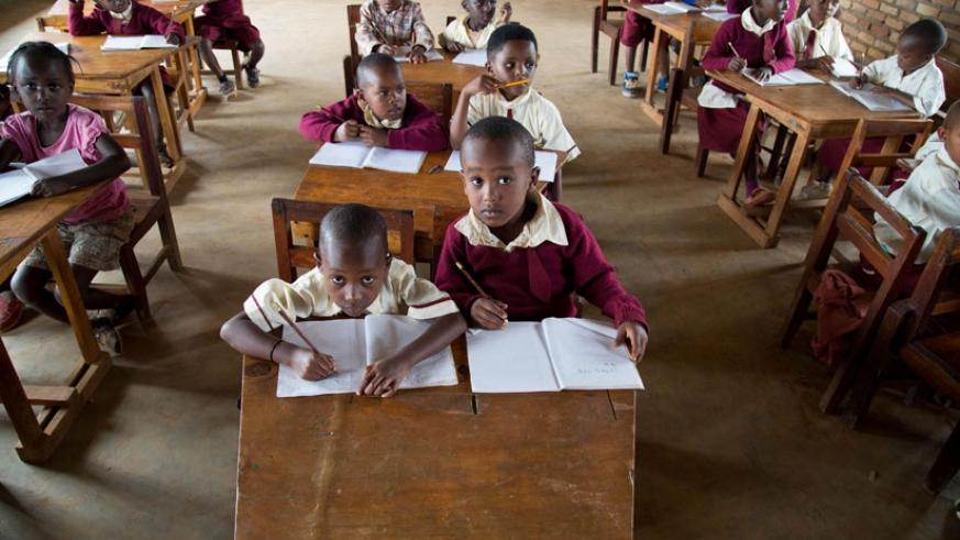 Pupils of Rusheshe Primary School. The number of children going to school increased from 1.4 million in 2000 to 2.4 million in 2013. (File)