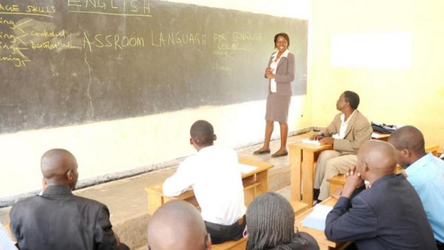 A Ugandan English instructor shares teaching skills with Rwandan teachers in 2009. (File)