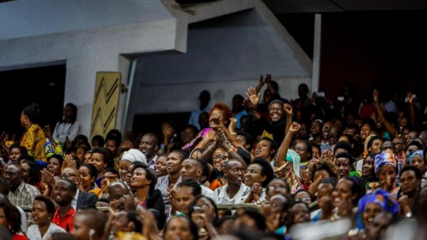 People applaud from the public gallery during the amendment session at Parliament last week. (Timothy Kisambira)