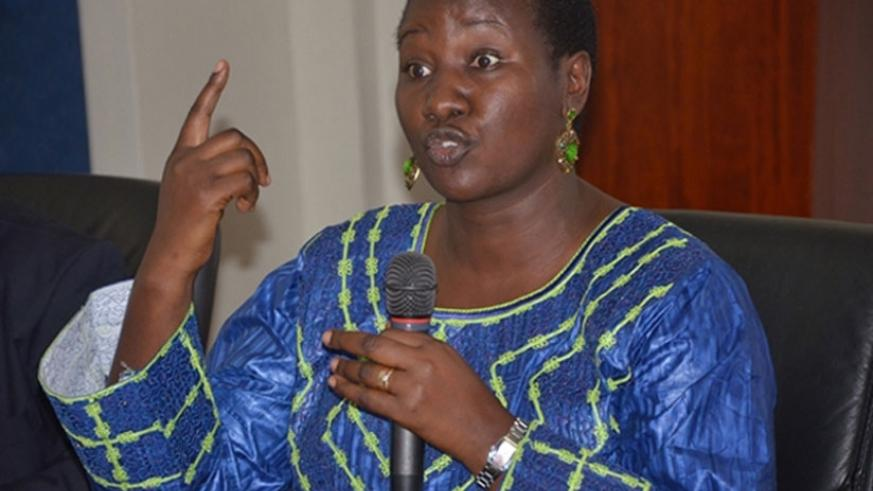 Sports and Culture minister Julienne Uwacu. (File photo)