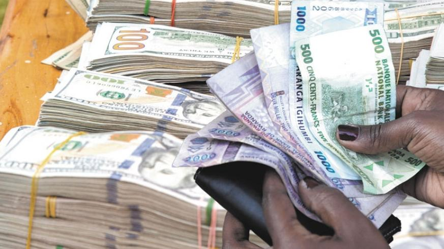 The dollar is now trading at Rwf770 in forex bureaus after Intervention of the National Bank of Rwanda. (File)
