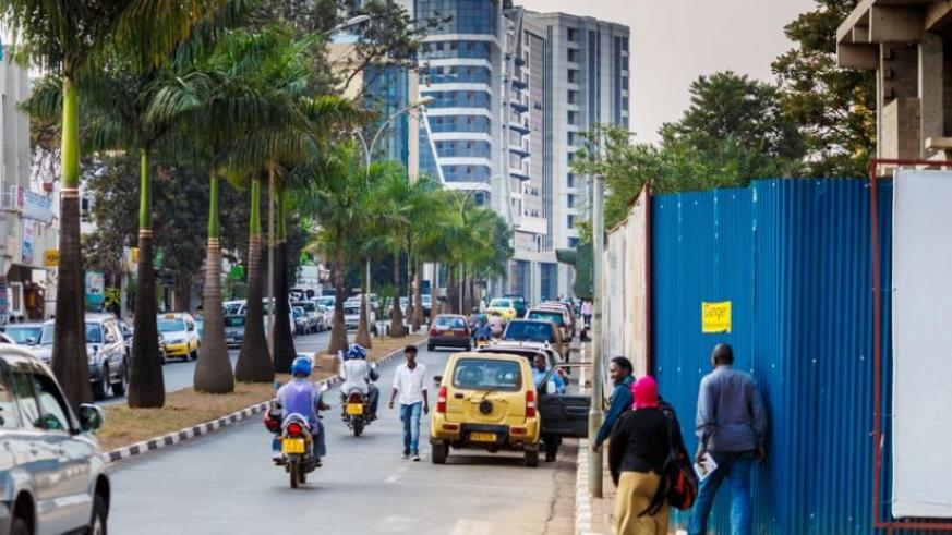 The Centenary House-Ecole Belge street that was yesterday declared the city's first car-free zone. (Timothy Kisambira)
