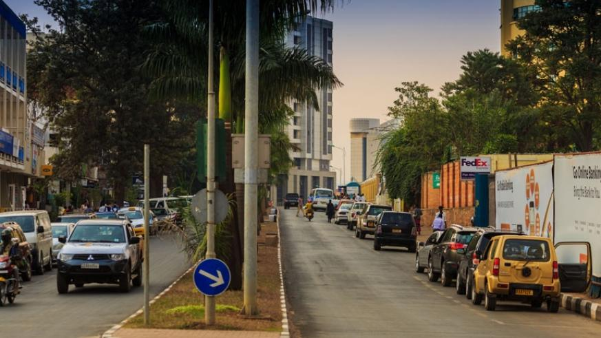 The Ecole Belge junction - Centenary House in the Central Business District that will be car-free effective today.  (Timothy Kisambira)