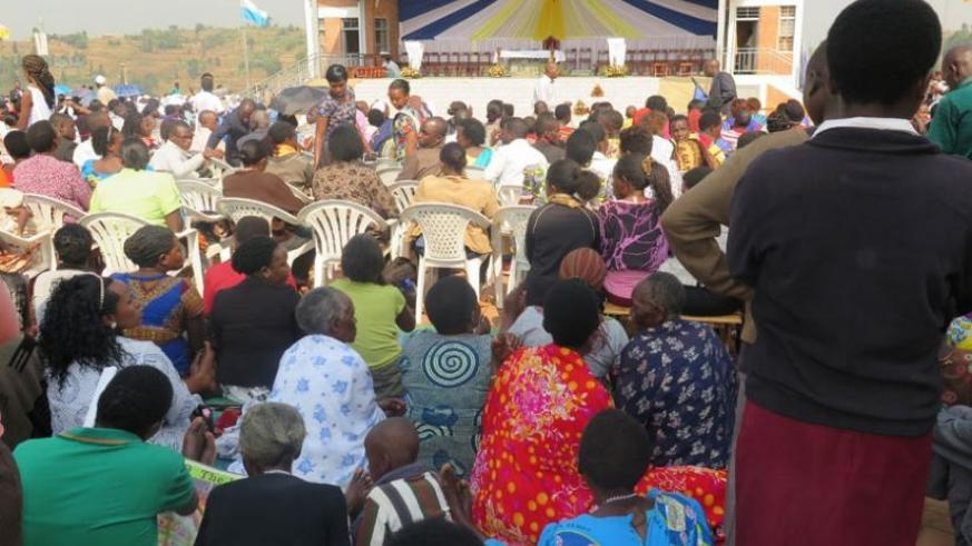 A section of the congregation during the Assumption Day at Kibeho. (Solomon Asaba)