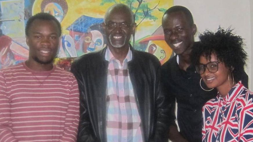 (L-R)- Willy Karekezi, Epa Binamungu, Addis Kamanzi and Alice Umwari.