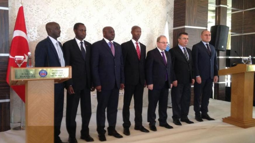 The Rwandan delegation and their Turkish counterparts in Ankara on Friday. (Courtesy)