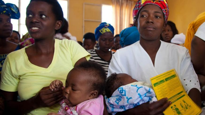 Mothers wait for service at Busanza Health Centre in Kanombe last year. (File)