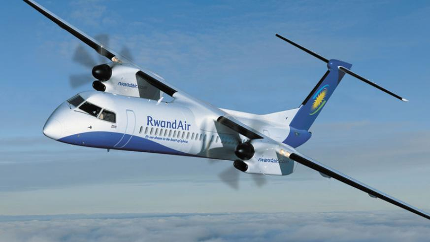 A RwandAir plane. The airline is one of the few firms on the continent that ensures quality services. (Net)