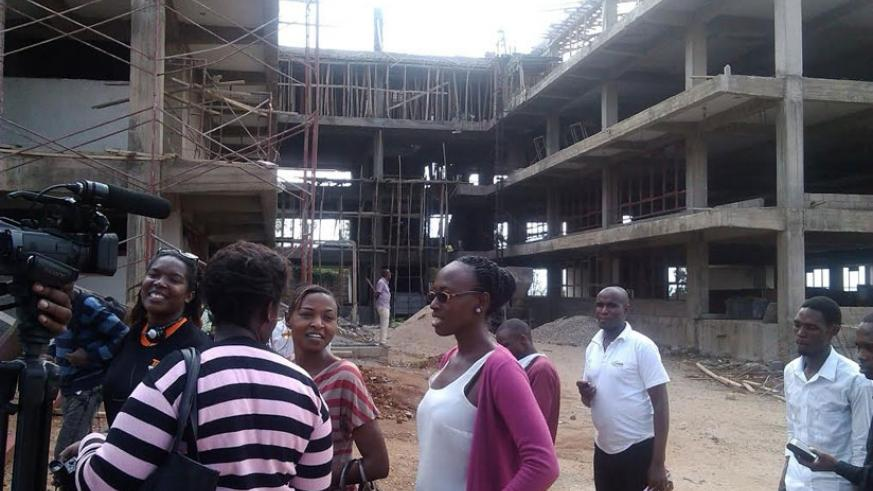 Construction of the new university's premises will be completed in January and ready for use in May next year. / Elizabeth Buhungiro