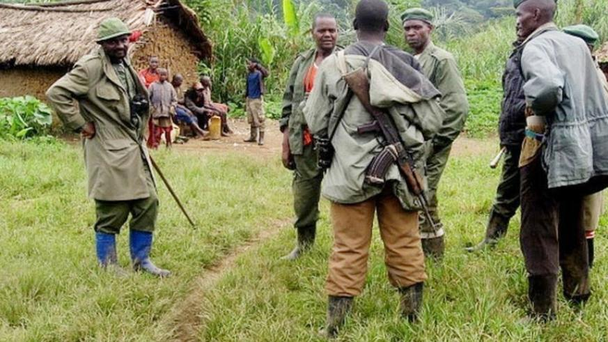 Members of the FDLR militia in eastern DR Congo. (Net photo)
