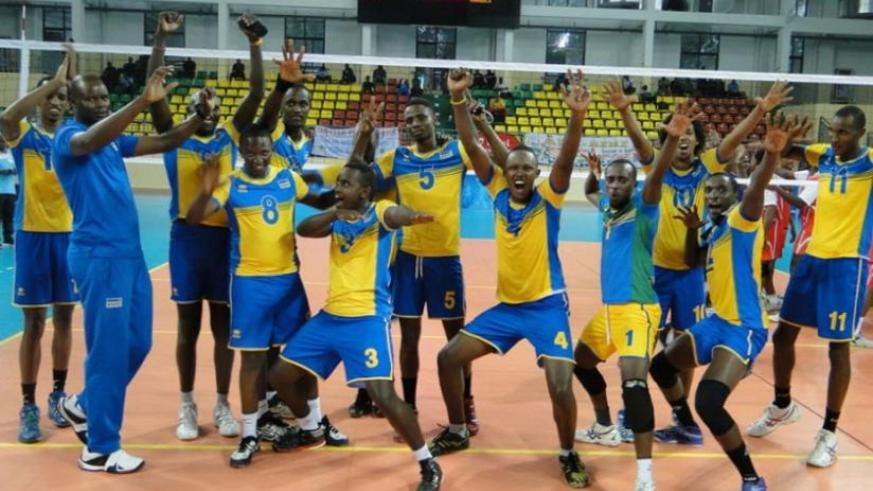 Rwanda celebrates after defeating Seychelles for their first win on Tuesday. (Courtsey)