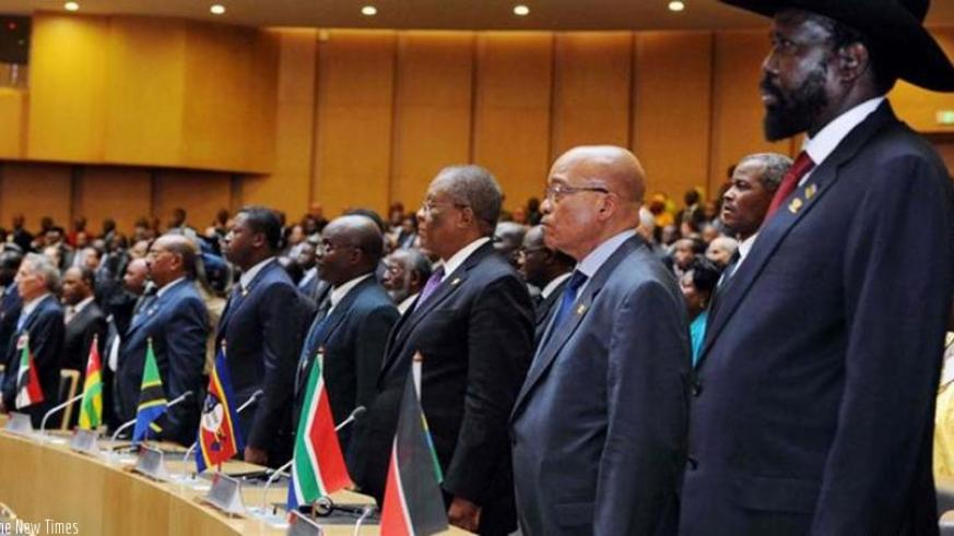 A cross-section of African leaders during a past African Union meeting at the AU headquarters in Addis Ababa, Ethiopia. (Courtesy)