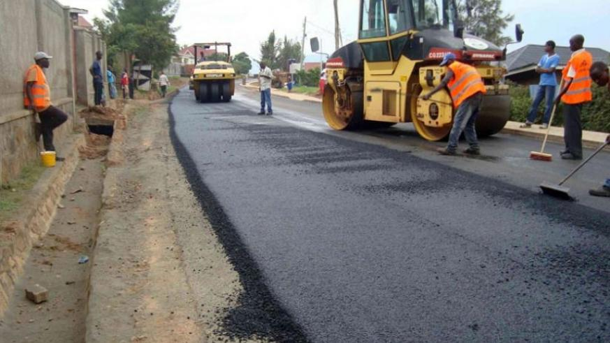 Road works in Kigali. It's on such projects where government loses a lot of money in case of bad legal advice.  (File)