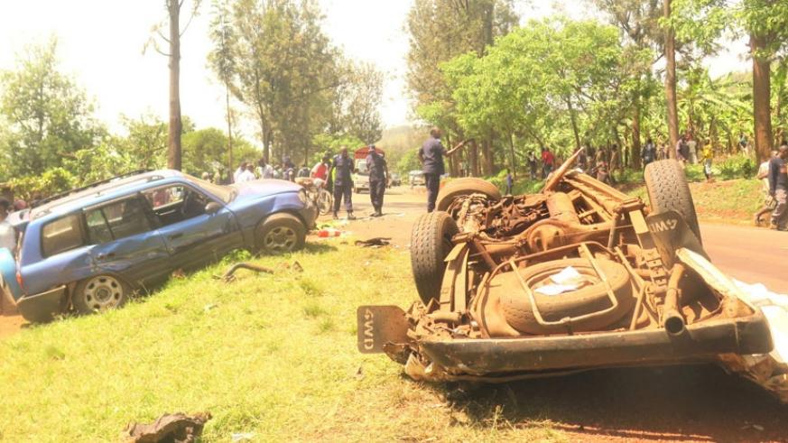 The scene was horrible as the omnibus was flattened on the ground leaving virtually nobody alive. (Stephen Rwembeho)