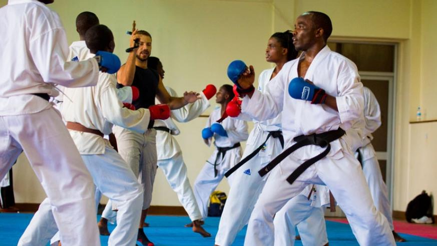Last year, Noel Nkuranyabahizi was on the team when former Egyptian champ Tamer Abdel-Raouf took charge of training ahead of the WKF Championships in November in Bremen, Germany.