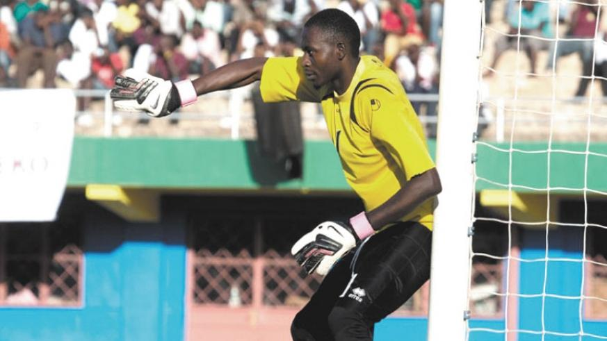 Experienced goalkeeper Eric Ndayishimiye will be critical in Rayon Sports' ambitions this season. (File)