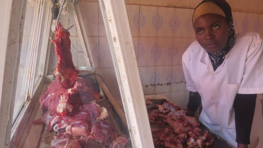 The price of meat is at Rwf2,200 per kilo, unchanged compared to last week in all city suburbs. (Shamim Nirere)