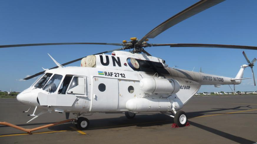 President Kagame has pledged two more attack helicopters to help bolster UN peacekeeping operations. (Photo: RDF)