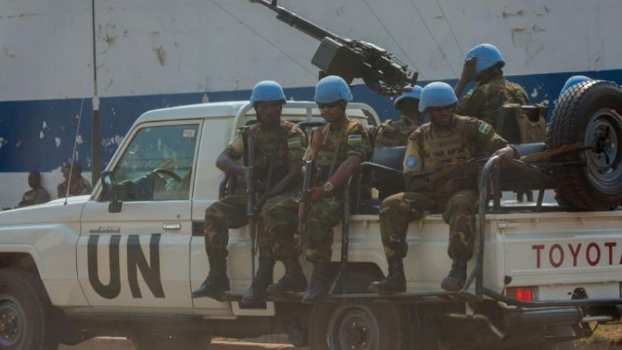 RDF peacekeepers on patrol in Bangui, the capital of CAR. (File)