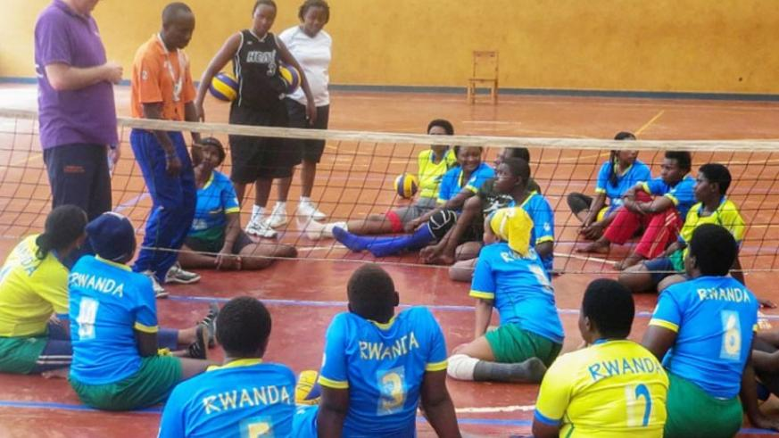 The national team during a past training session at NPC gymnasium with head coach Peter Karreman. (Courtsey)