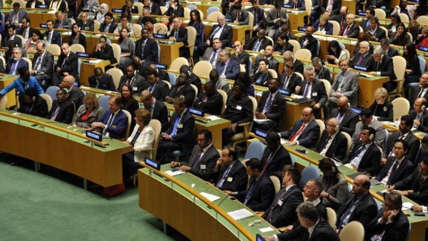 Delegates attend the 70th session of the United Nations General Assembly at the United Nations headquarters in New York, United States. (Net photo)