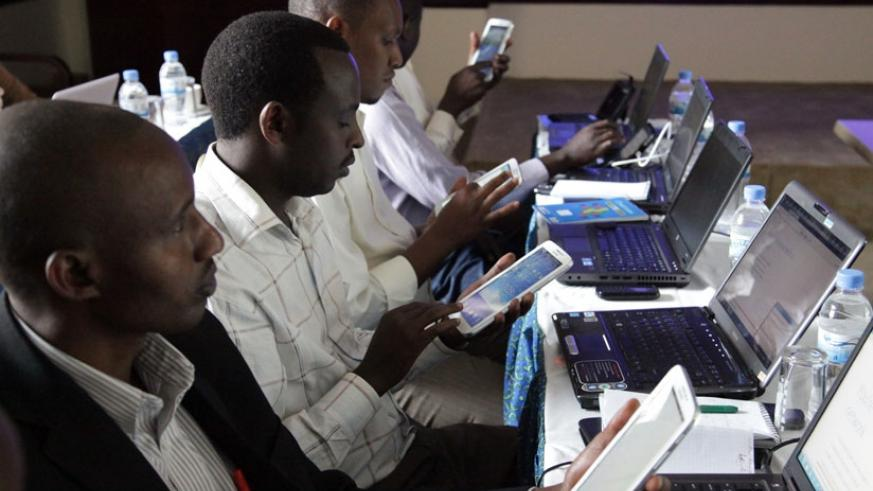 Teachers browse the internet during a training workshop. (File)