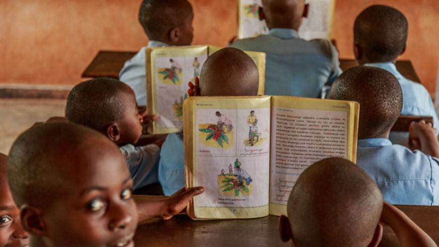 Pupils during lessons in a class at L'Educateur school in Rusizi District. (File)