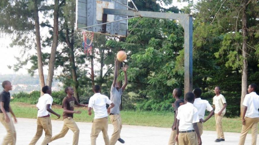 Students of Lycee de Kigali play basketball after classes. The government is seeking to make leisure and sports activities more lucrative. (Solomon Asaba)