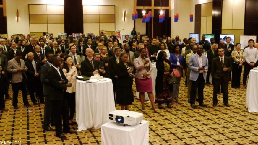 Guests at Korea National Foundation Day celebrations in Kigali.