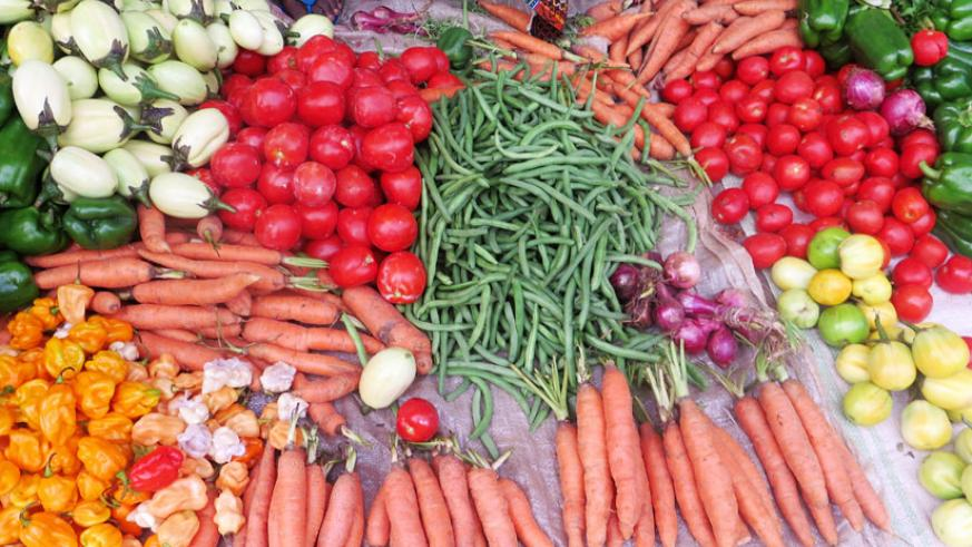 Prices of a number of vegetables were unchanged. (Shamim Nirere)