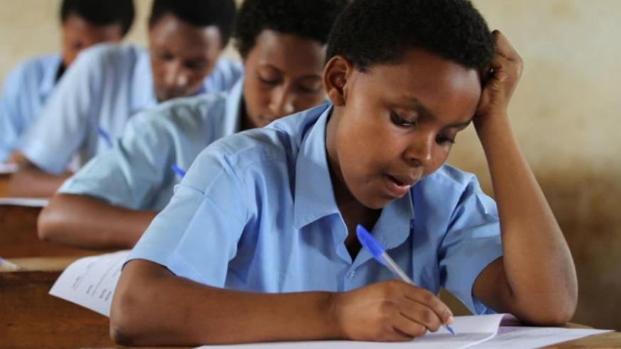 Students sit for national examinations in Rwamagana last year. (File)
