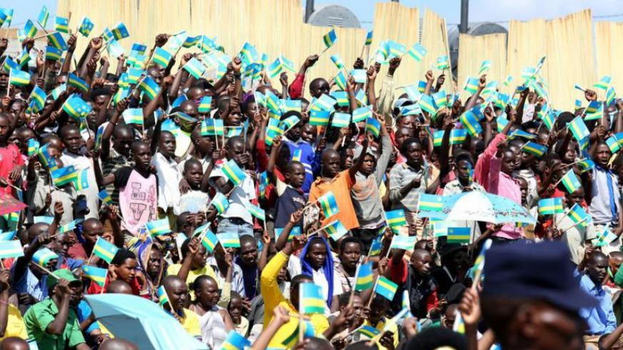 Residents of Gasabo District,Gikomero Sector welcome president Paul Kagame last year. (File)