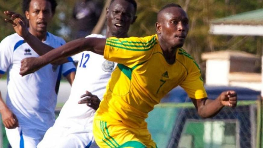 AS Kigali top scorer this season, Rodriguez Murengezi, will be hoping to stretch his tally. (File)