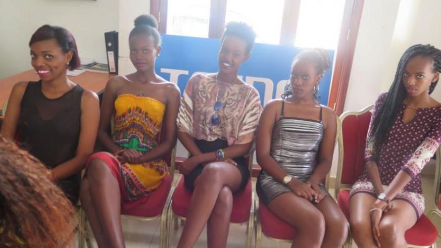 Some of the contestants in this year's edition of Rwanda's Next Top Model. (Courtesy)