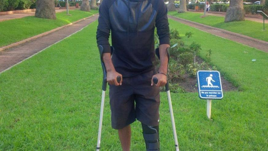 Injured Mwiseneza will be out of action for another six months. (Courtesy)