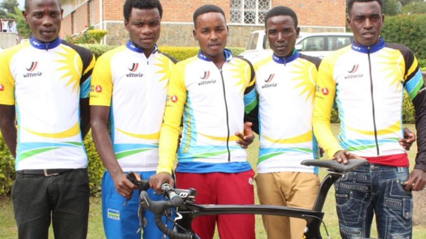 (L-R) - Nsengimana, Uwizeyimana, Hadi (captain), Byukusenge and Ndayisenga, initially comprised Team Karisimbi. (Courtesy)