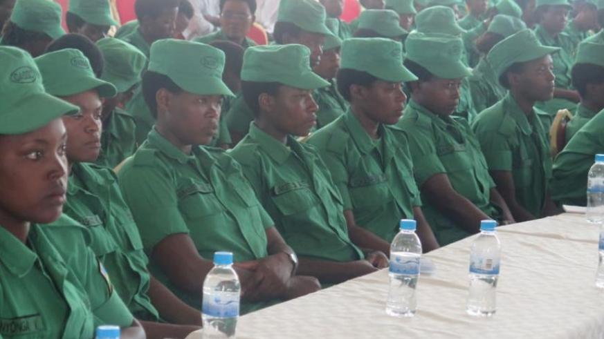 DASSO Female Officers attend a one day training on the fight against domestic and Gender Based Violence yesterday, in Kigali. (Eddie Nsabimana)