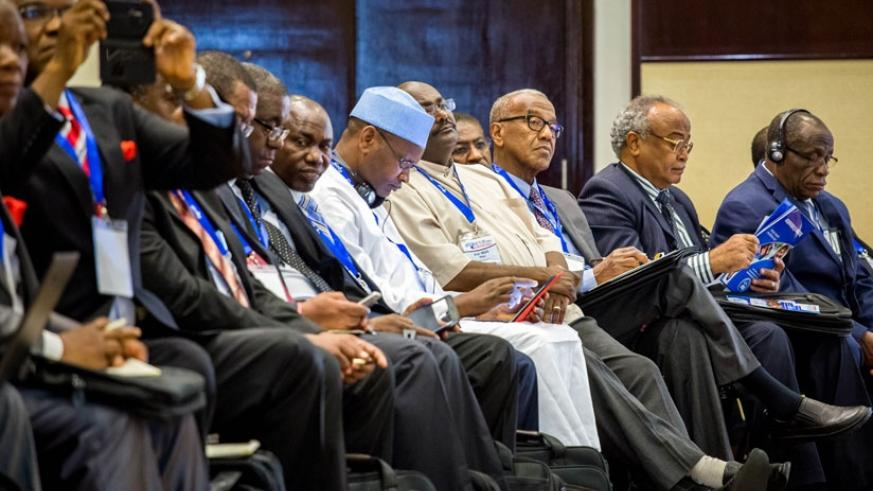 A cross section of delegates at a meeting of academics and researchers in Kigali on June 2, 2015. (File)