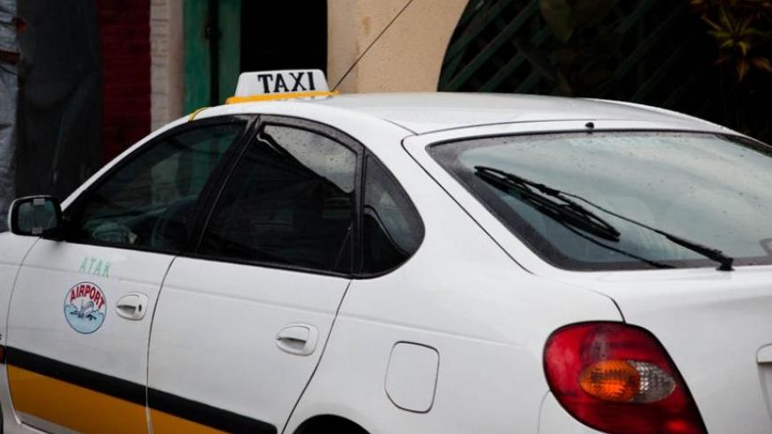 A taxi parks at Gisementi in Remera. 250 Taxi is being billed as a game changer in public transport sector. (File)