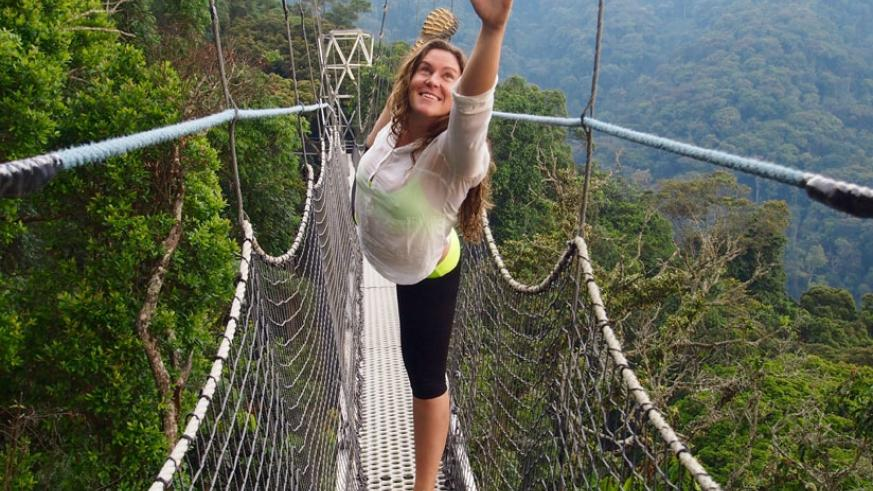 Alexandra Dionyssia Huttinger, a Yoga instructor in Nyungwe.