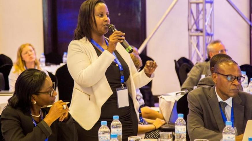 Grace Mbabazi, the managing director of Royal Links Ltd, a customs cargo clearing and forwarding company, explains the benefits of integration. (D. Umutesi)