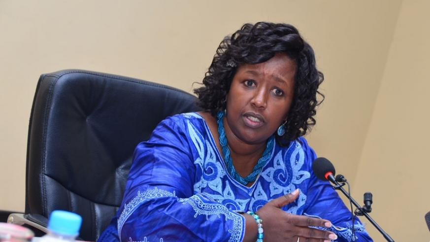 Minister Binagwaho speaks during the news conference on Thursday. (Donah Mbabazi)