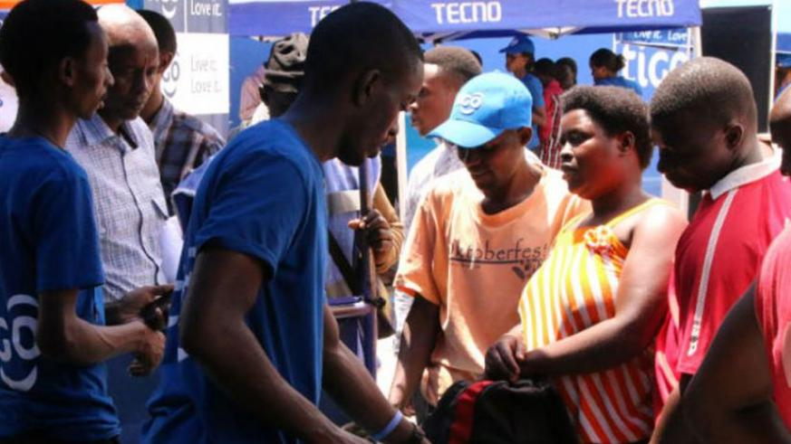 Some of the people who attended Tigo's 4G festival last week. (Courtesy)