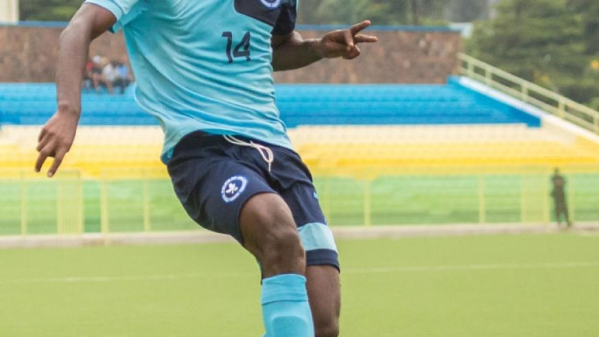 Dany Usengimana scored the only goal as Police defeated AS Kigali 1-0 in the national league on Sunday. (File)