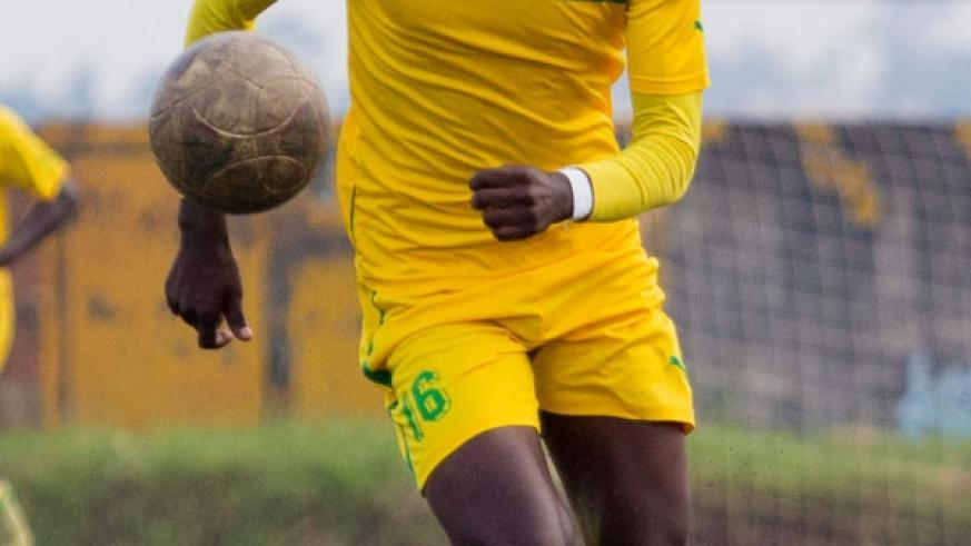 Ernest Sugira will be looking to score against his former Club APR. (Timothy Kisambira)